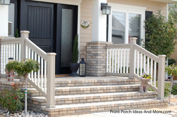 wide appealing front porch steps