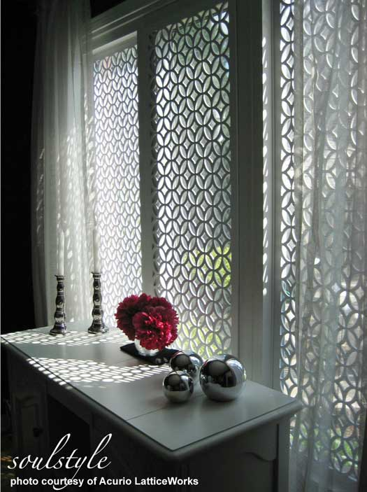 easy window treatment using vinyl lattice panels