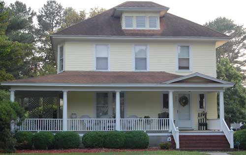 large wrap around front porch in Winston-Salem-NC