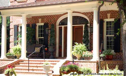 classic front porch with tuscan columns