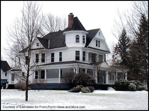 wonderful big white farmhouse