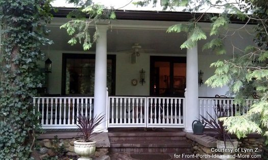 Wood porch railings make a wonderful difference