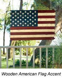 wooden flag accent piece