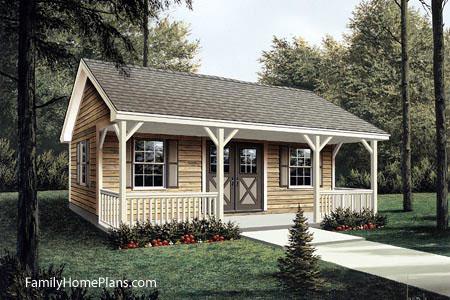 workshop building plan with porch