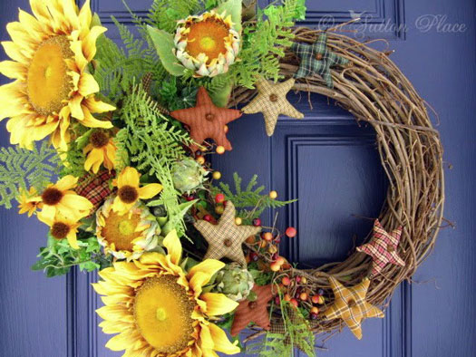 wreath designs - sunflowers
