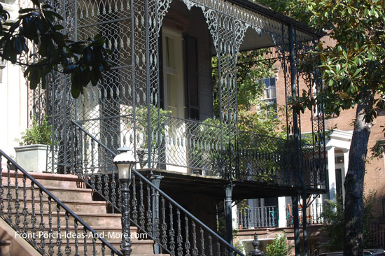 elaborate wrought iron columns