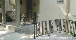 Wrought Iron Stair Hand Rails