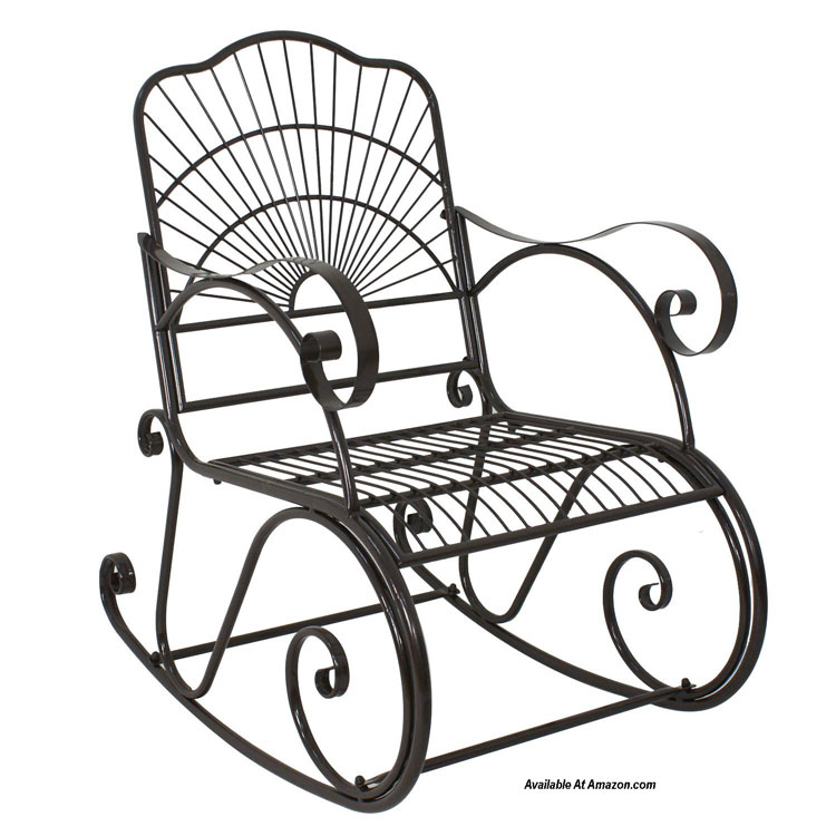 powder coated steel rocking chair available at Amazon.com