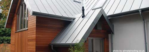 zinc metal roof - popular in Europe and lasts for many years