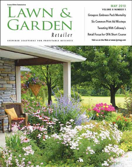 Zone 5 perennials - Brenda's porch featured on cover of Lawn and Garden magazine