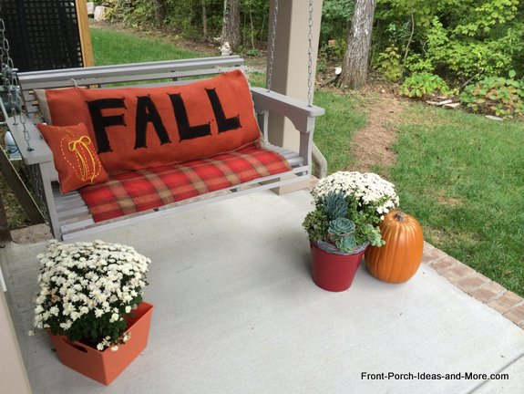 fall porch swing cushion