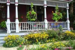 Victorian porch landscaping