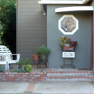 spacious patio addition to extend front porch