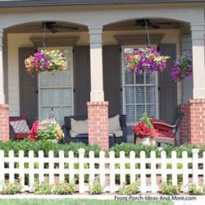 porch with romanesque style porch columns