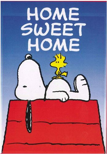 Snoopy and woodstock home sweet home