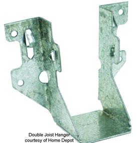 double joist hanger for porches or decks