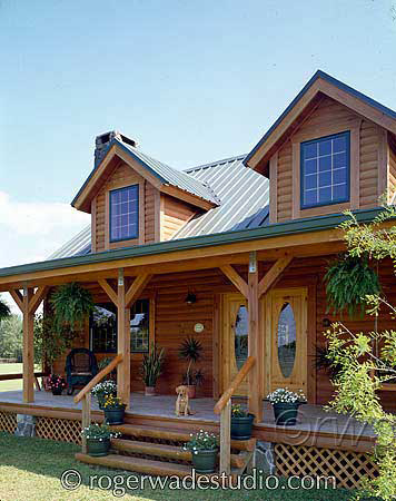 Log Home with Inviting Porch