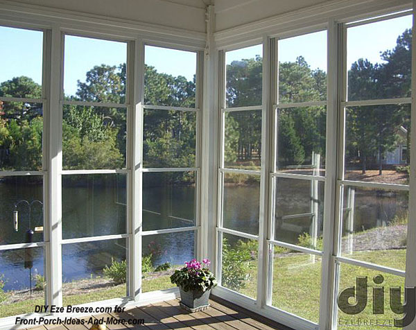 4 track Eze-Breeze screen porch windows on 3 season room