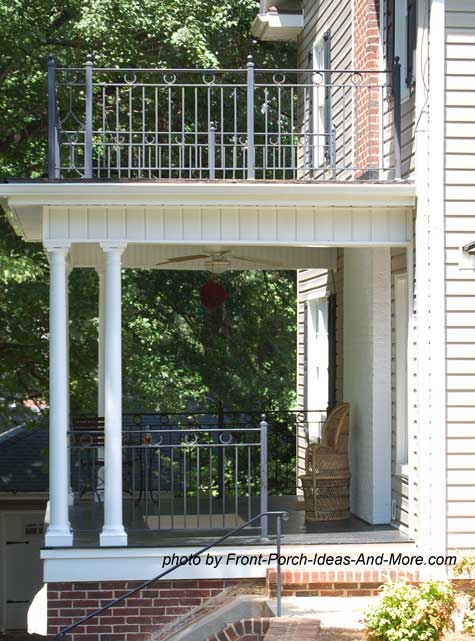 Front porch designs for colonial home for Side porch designs