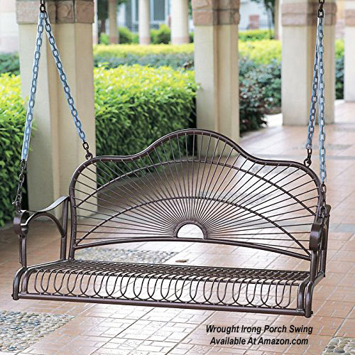wrought iron porch swing from amazon