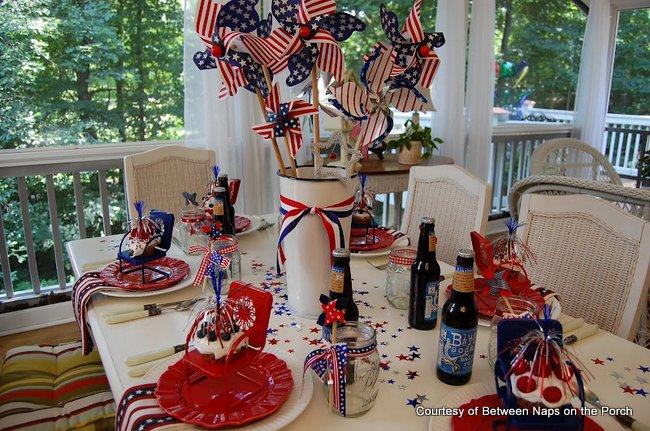 Susan's patriotic tablescape