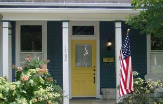 Porch decorating flag
