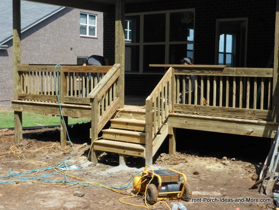 how to build a set of steps for a porch