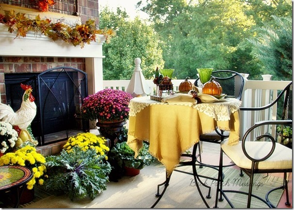 beautiful porch from Back Porch Musings