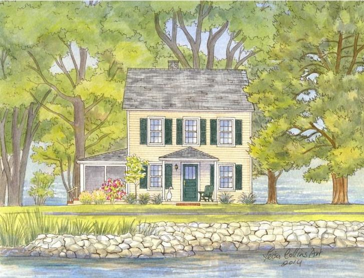 Capture a family vacation memory like this Eastern Shore MD home - get more details on Front Porch Ideas and More