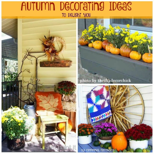 Plentiful ideas for decorating your porch this fall