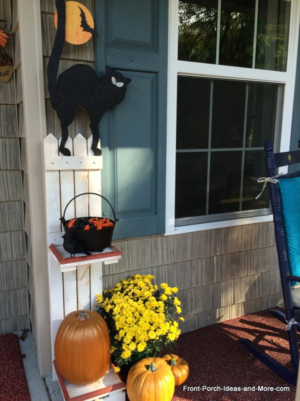 Halloween porch candy holder