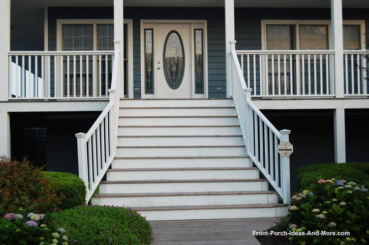 flaired and wide front porch steps