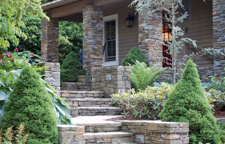 stone front porch-steps