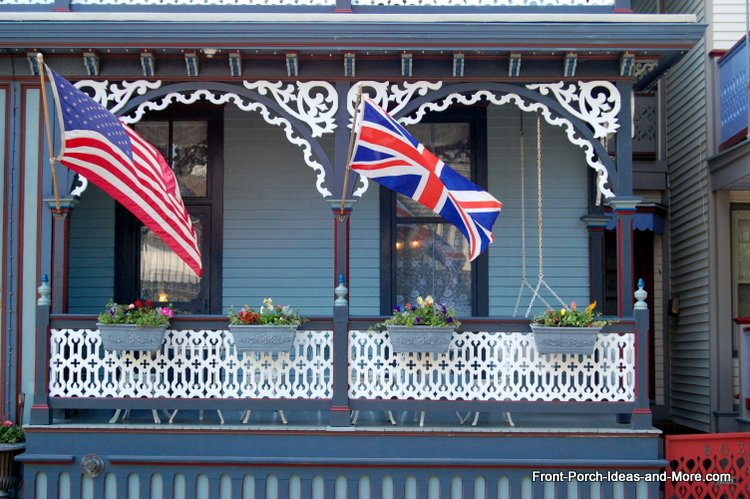 Pictures of Gingerbread Houses - patriotic indeed