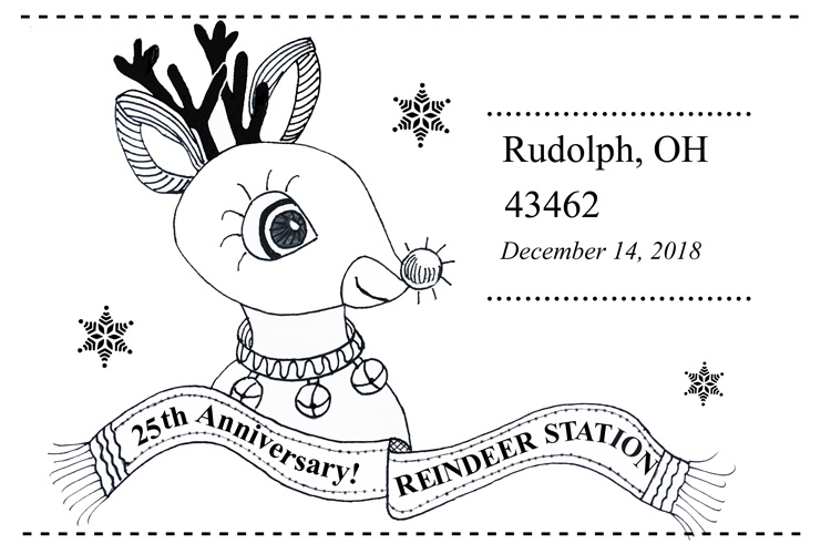 Rudolph Ohio 25th anniversary postmark