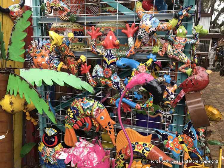 Yard Art Emporium - birds, frogs and fish yard art