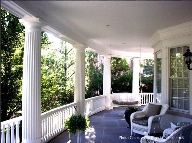 Royal Corinthian® Fluted Columns on front porch
