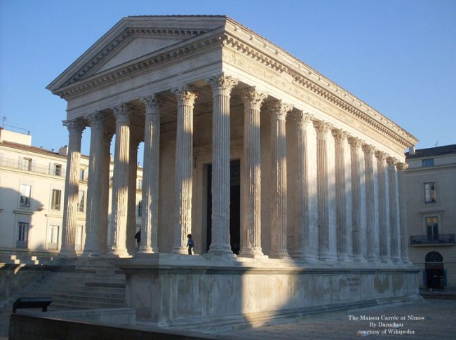 The Maison Carrée at Nîmes in France
