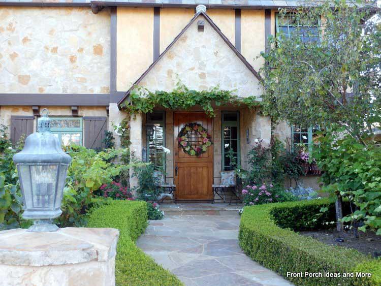 Beautiful wreath on front door of this amazing home