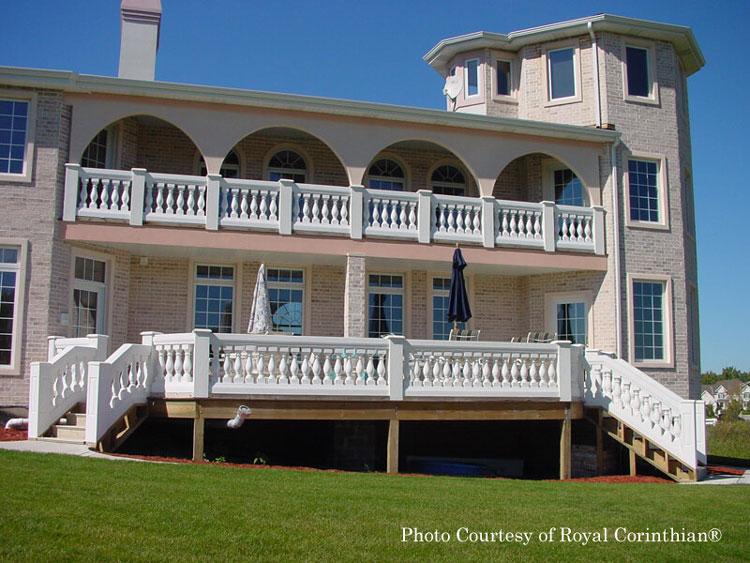 Royal Corinthian® double balustrades on home