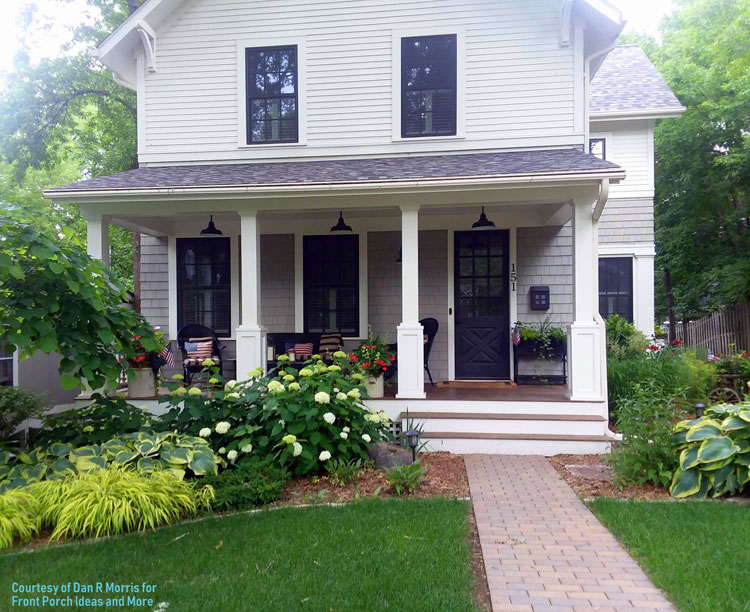 front porch with absolutely beautiful porch landscaping