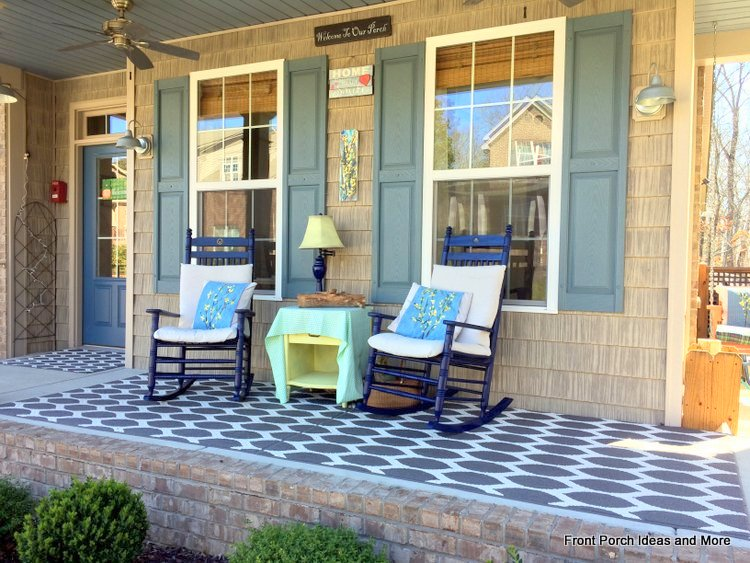 Our spring porch decorated with forsythias - a DIY project