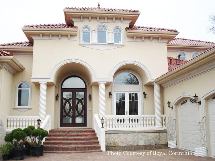 Royal Corinthian® twist rope columns on front porch