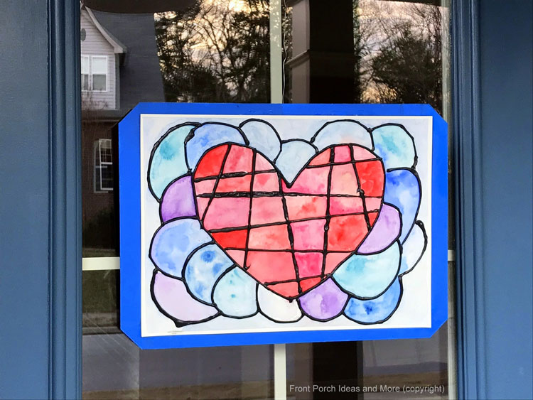 mosaic valentine for front door