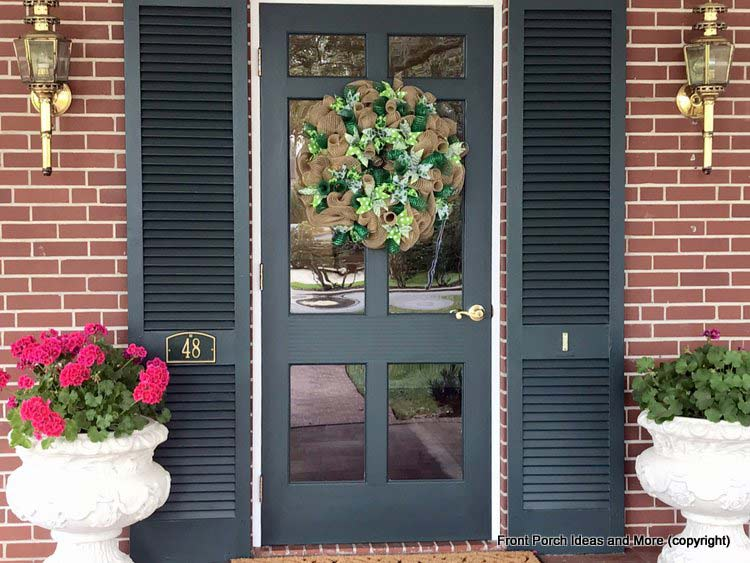 St Augustine Fl porch - most welcoming front door