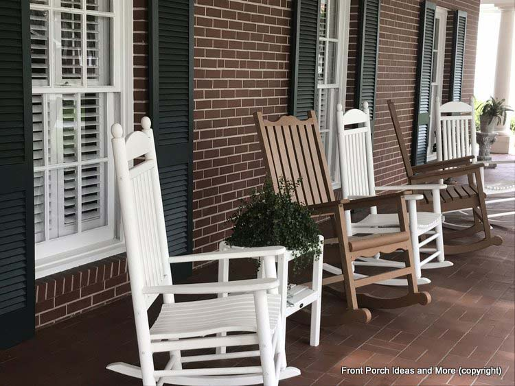 St Augustine Fl porch with rocking chairs