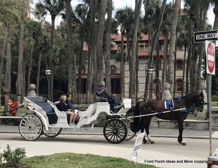 Taking a carriage ride in St Augustine Fl