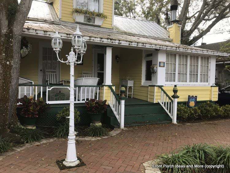 A pretty yellow home in St Augustine Fl
