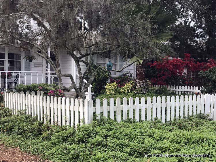 A pretty corner picket fence St Augustine Fl