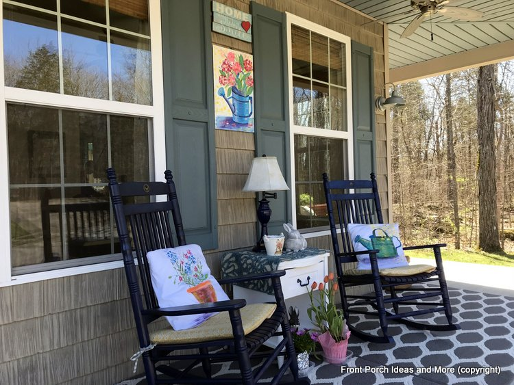Our springtime porch